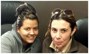 Inés Torrano y Yolaine Mayea